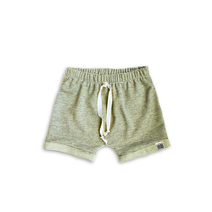 Boy's Crew Shorts in Green Tea Stripe