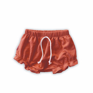 Ruffle Bummies in Persimmon