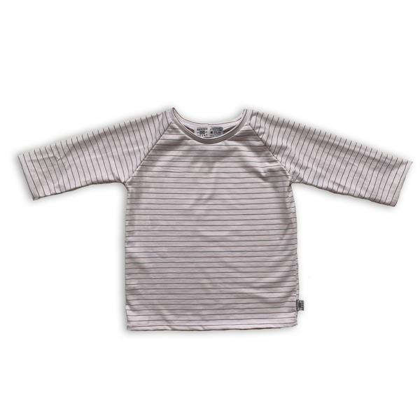 Handcrafted Raglan in Persimmon Stripe (choice of sleeve length)