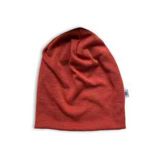 Slouchy Beanie in Heather Russet