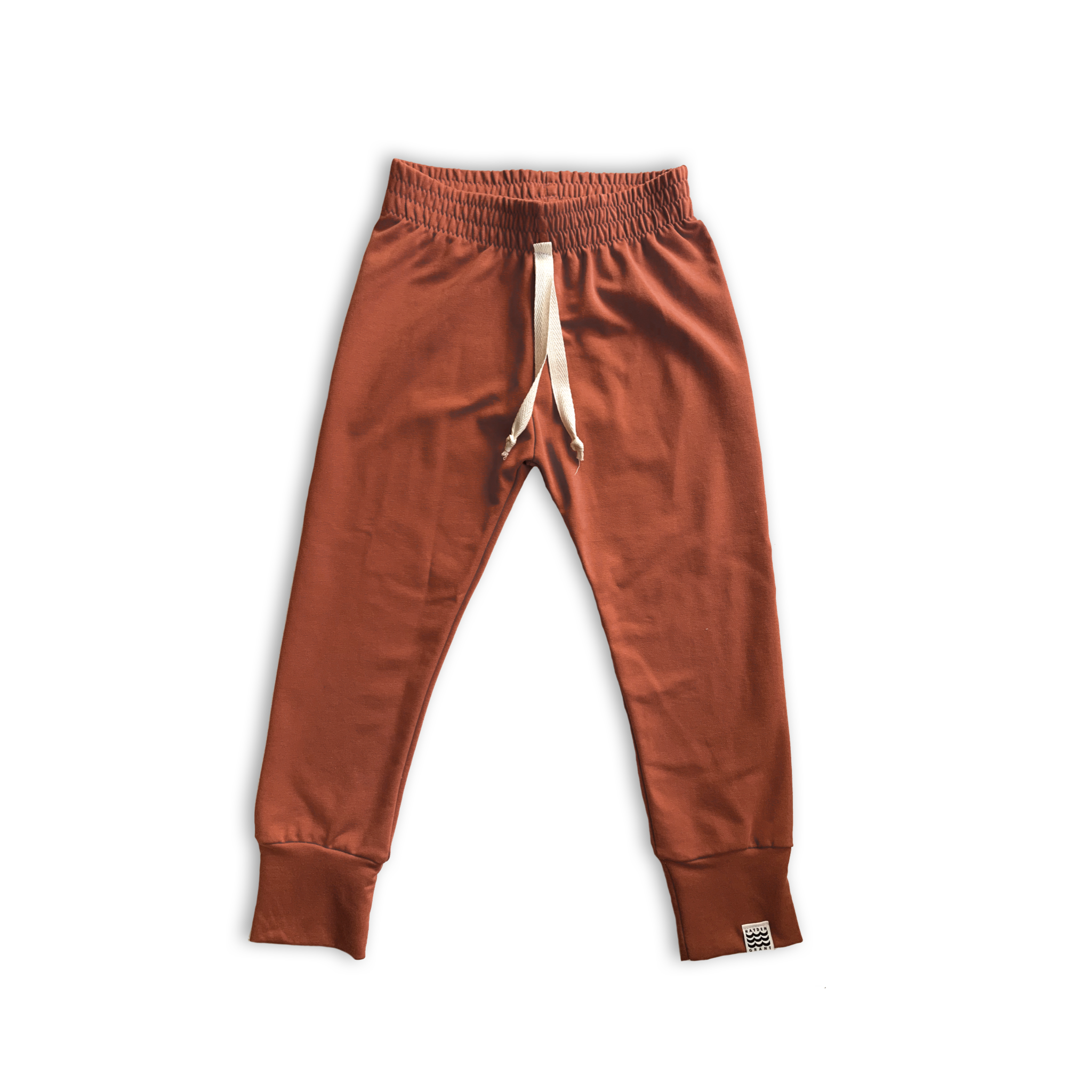 Essential French Terry Drawstring Joggers in Russet