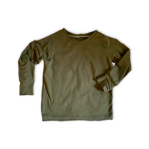 Crew Neck Pullover in Pine
