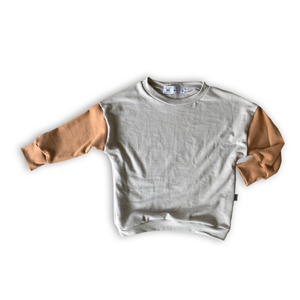 Long Sleeve Dolman Shirt in Toasted Wheat + Stone