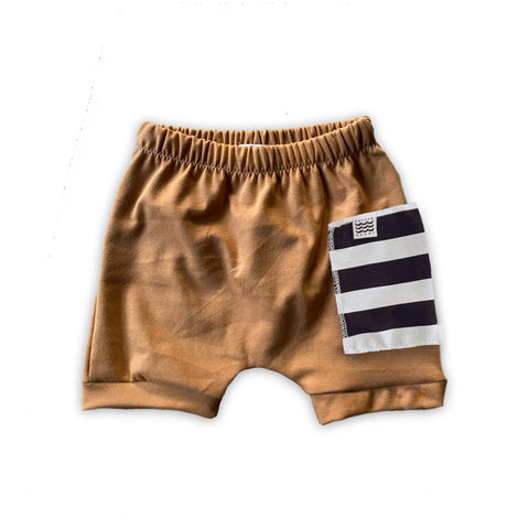 Sidecar Pocket Crew Shorts in Toasted Wheat