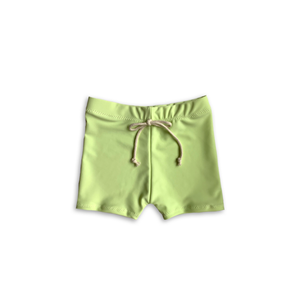 Key Lime Euro Swim Shorts- Baby Toddler Kids