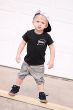 Load image into Gallery viewer, Camo Harem Shorts or Bummies for Baby Toddler and Kids