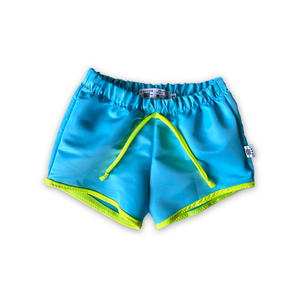 Azure Swim Boardies [Cropped Board Shorts]