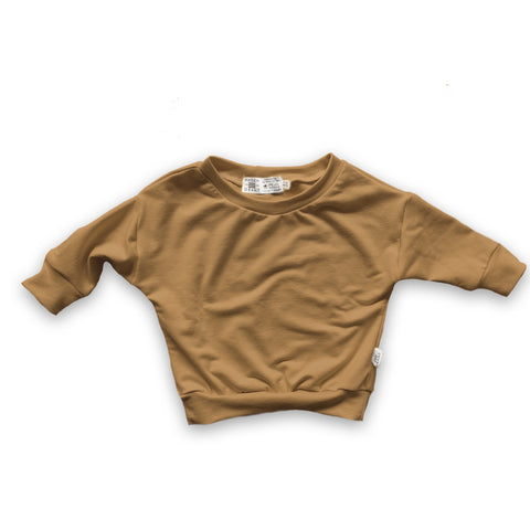Long Sleeve Dolman Shirt in Toasted Wheat