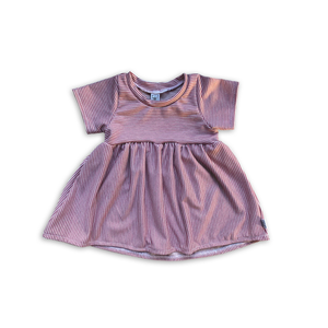 Peplum Tee in Mulberry Stripe