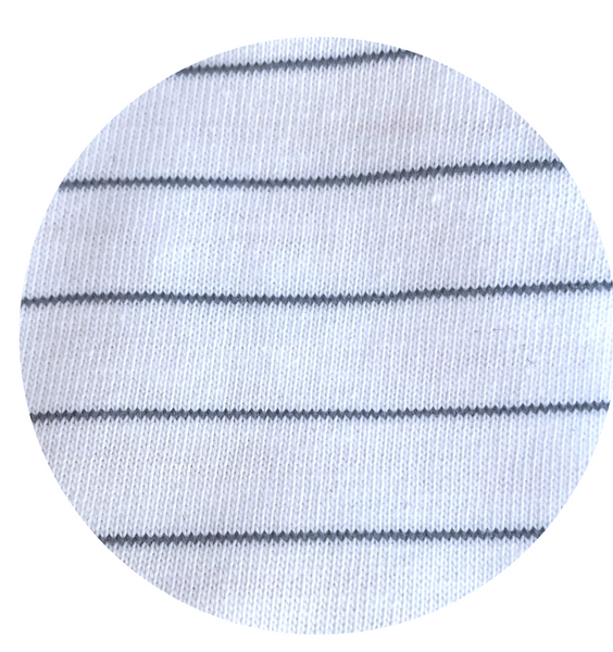 Handcrafted Raglan in Green Tea Stripe (choice of sleeve length)