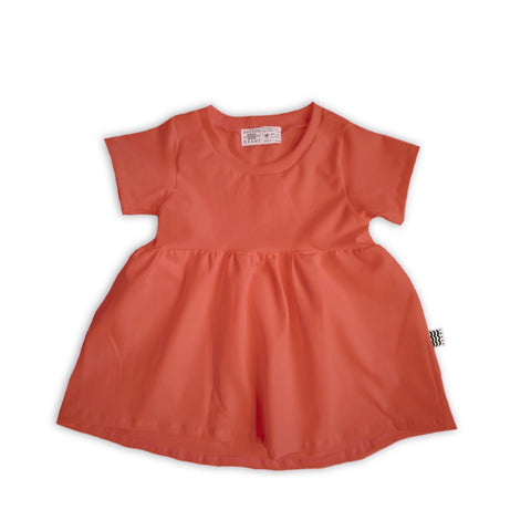 Handcrafted Peplum Tee in Persimmon (choice of sleeve length)