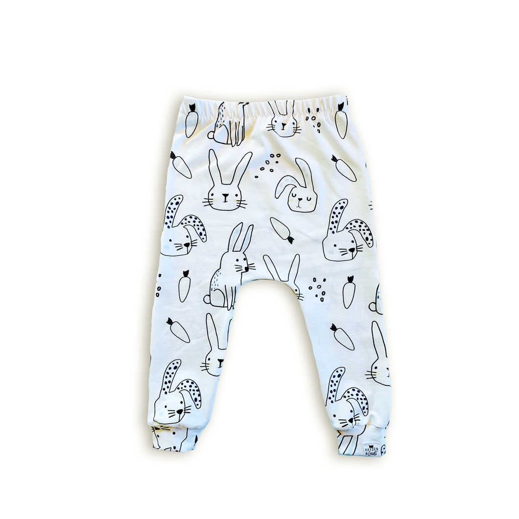Bunny Harem Pants - Joggers - Leggings for Baby Toddler and Kids