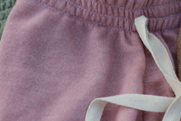 Rose Water French Terry Jogging Sweatpants