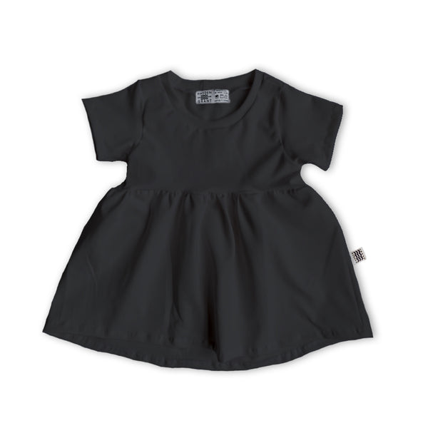 Handcrafted Peplum Tee in Onyx (choice of sleeve length)