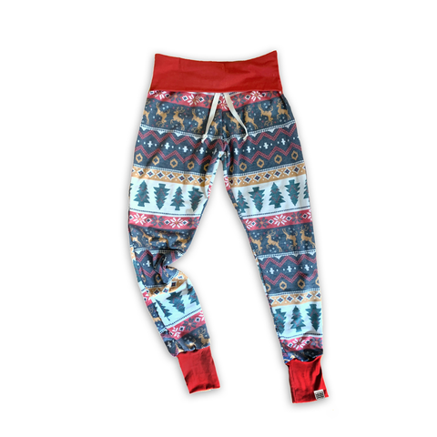 Women's Lounge Pants in Holiday Fair Isle