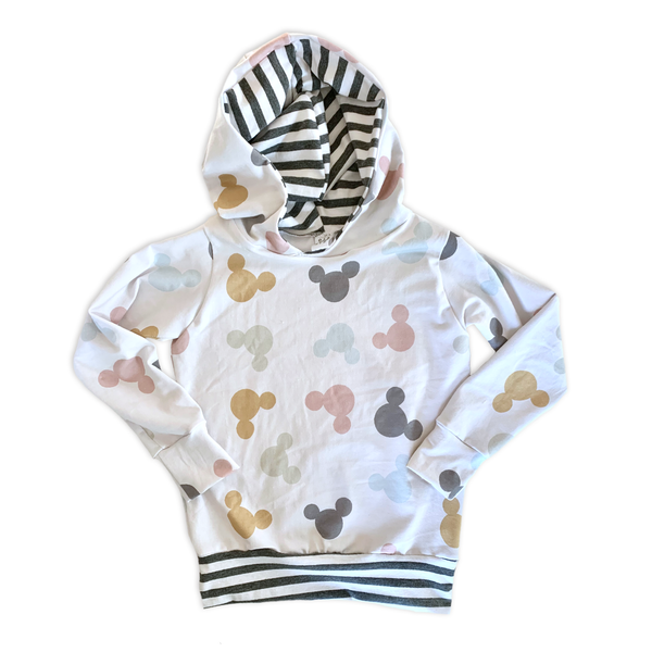 Pullover Hoodie in Cabana Mouse