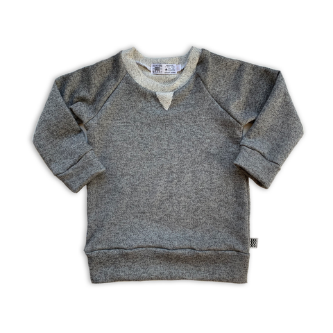 Crew Neck Sweatshirt in Charcoal