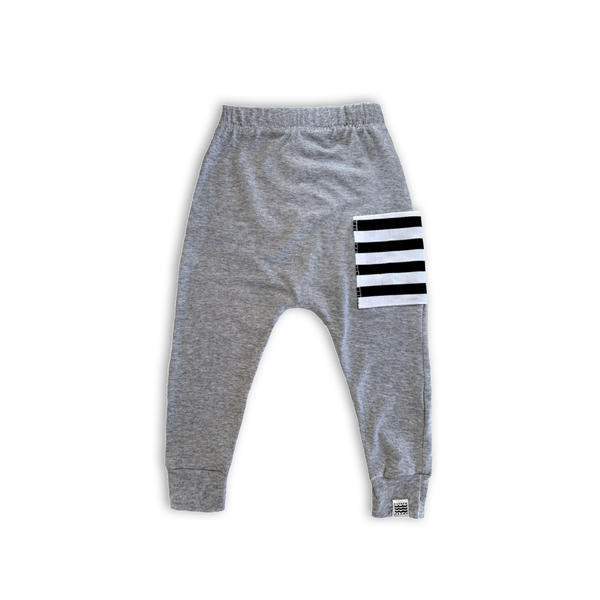 Sidecar Harem Pants in Heather Gray