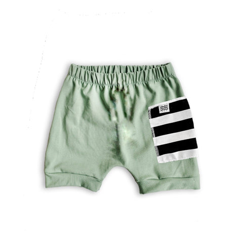Sidecar Pocket Crew Shorts in Green Tea