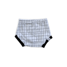 Load image into Gallery viewer, Monochrome Grid Bummies or Harem Shorts for Baby Toddler and Kids