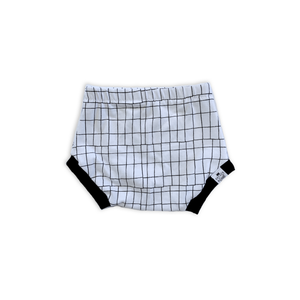 Monochrome Grid Bummies or Harem Shorts for Baby Toddler and Kids
