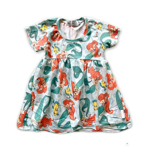 Twirl Dress in Under the Sea  (choose of sleeve length)