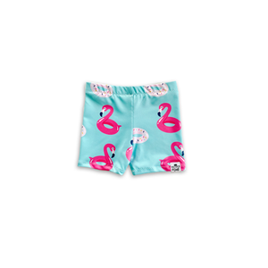 Pool Float (Flamingos & Donuts) Euro Swim Shorts- Baby Toddler Kids