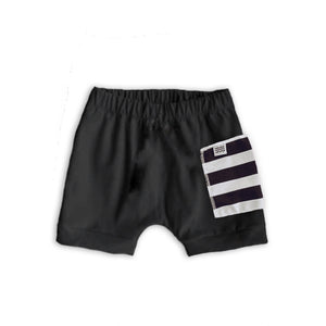 Sidecar Pocket Crew Shorts in Onyx