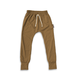 Essential drawstring Joggers in Toasted Wheat