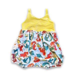 Bubble Romper in Under the Sea   (choice of sleeve length)