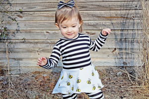 Bees Knees Peplum Top for Baby Toddler and Kids