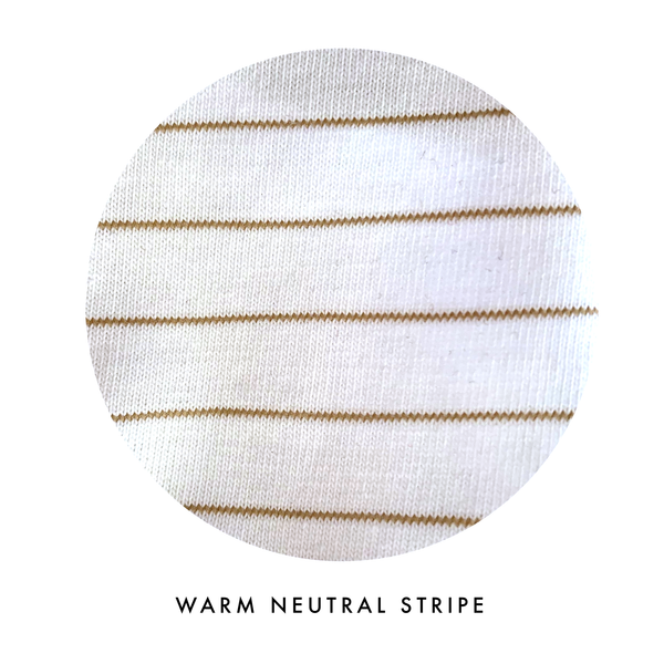 Handcrafted Raglan in Toasted Wheat Stripe (choice of sleeve length)