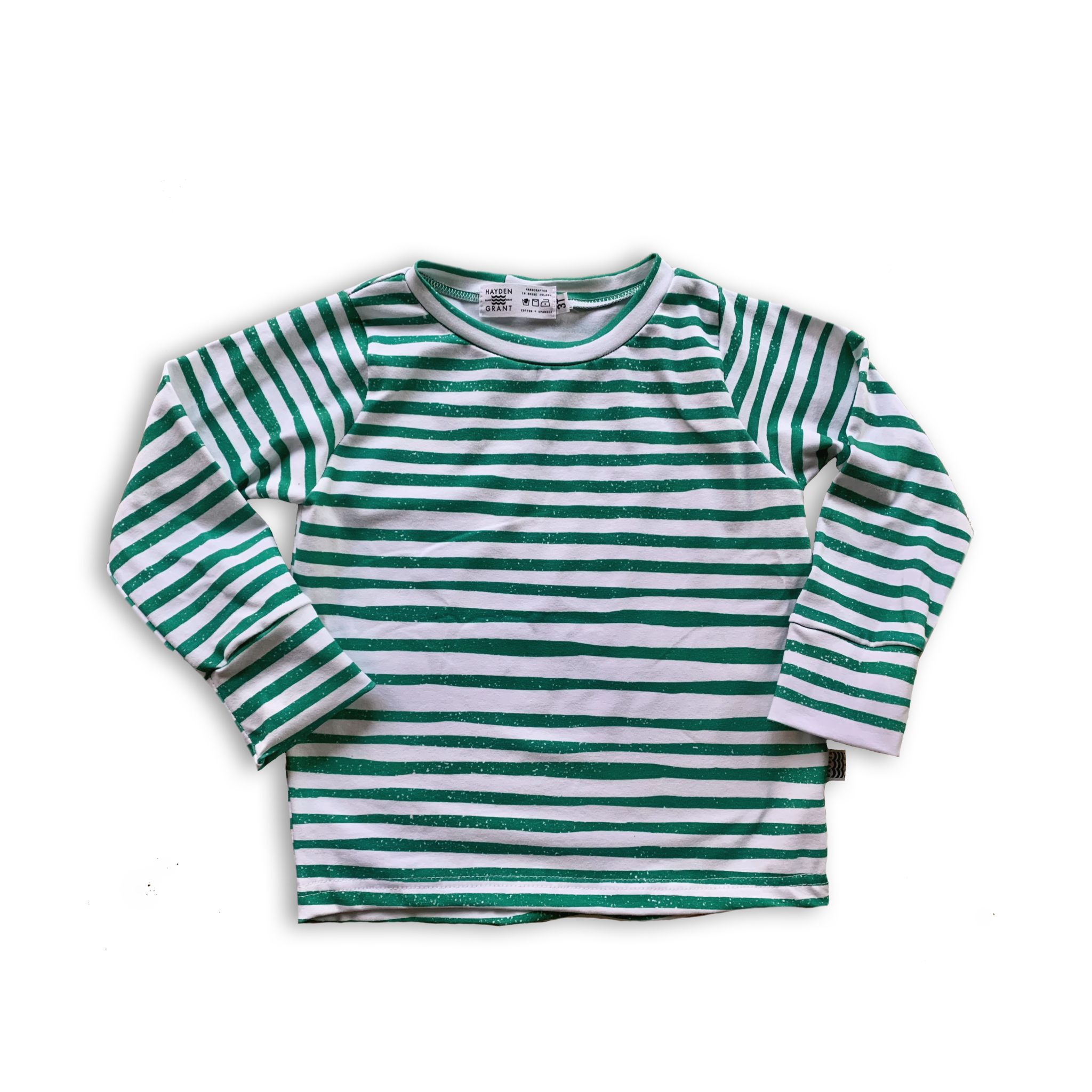 Crew Neck Pullover in Spruce Pine Stripe