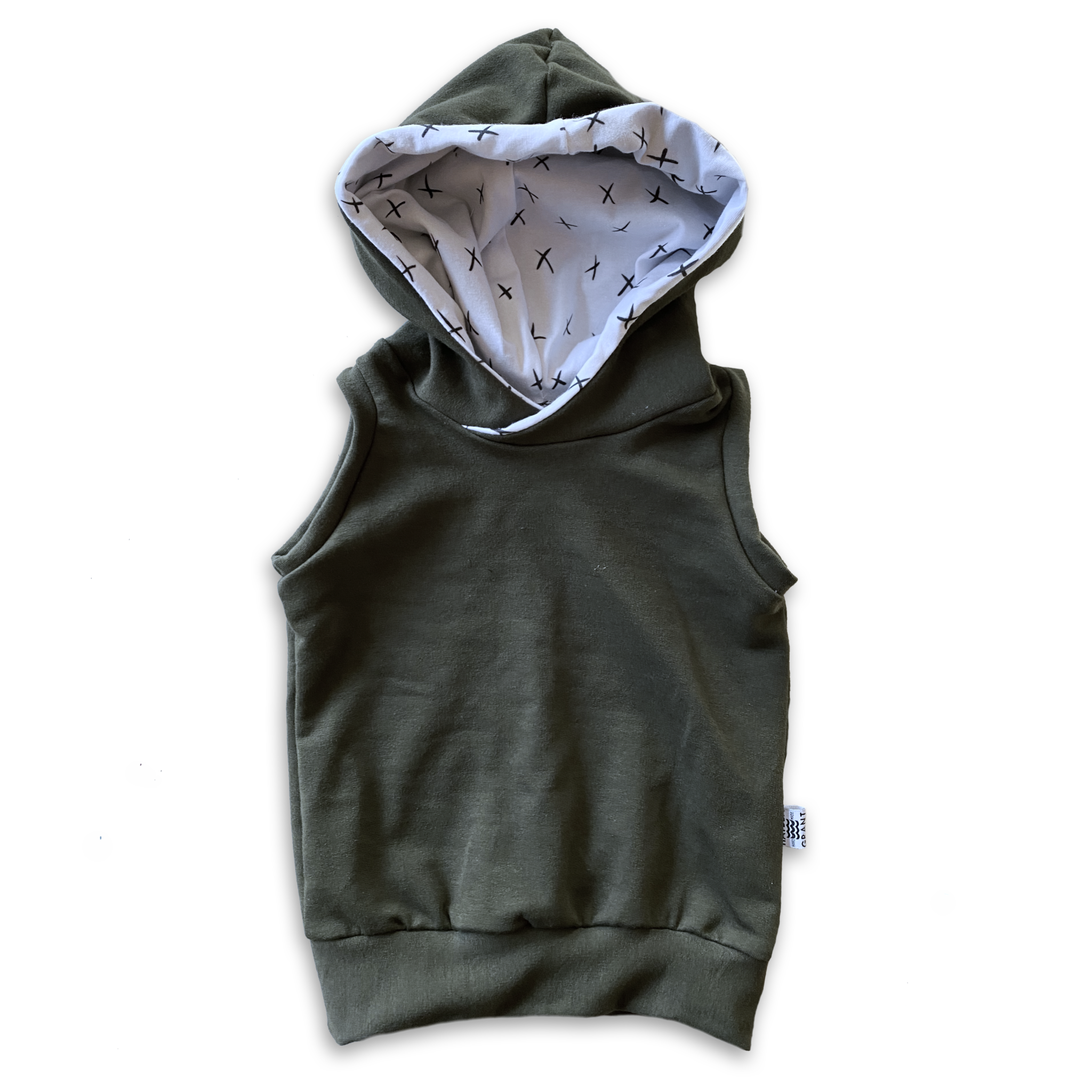 Hooded Tank in Onyx + Mono Ink