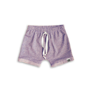 Boy's Crew Shorts in Mulberry Stripe