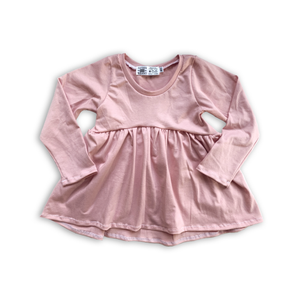 Handcrafted Peplum Tee in Sugarplum (choose of sleeve length)