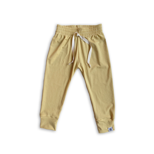 Essential Drawstring Joggers in Goldenrod