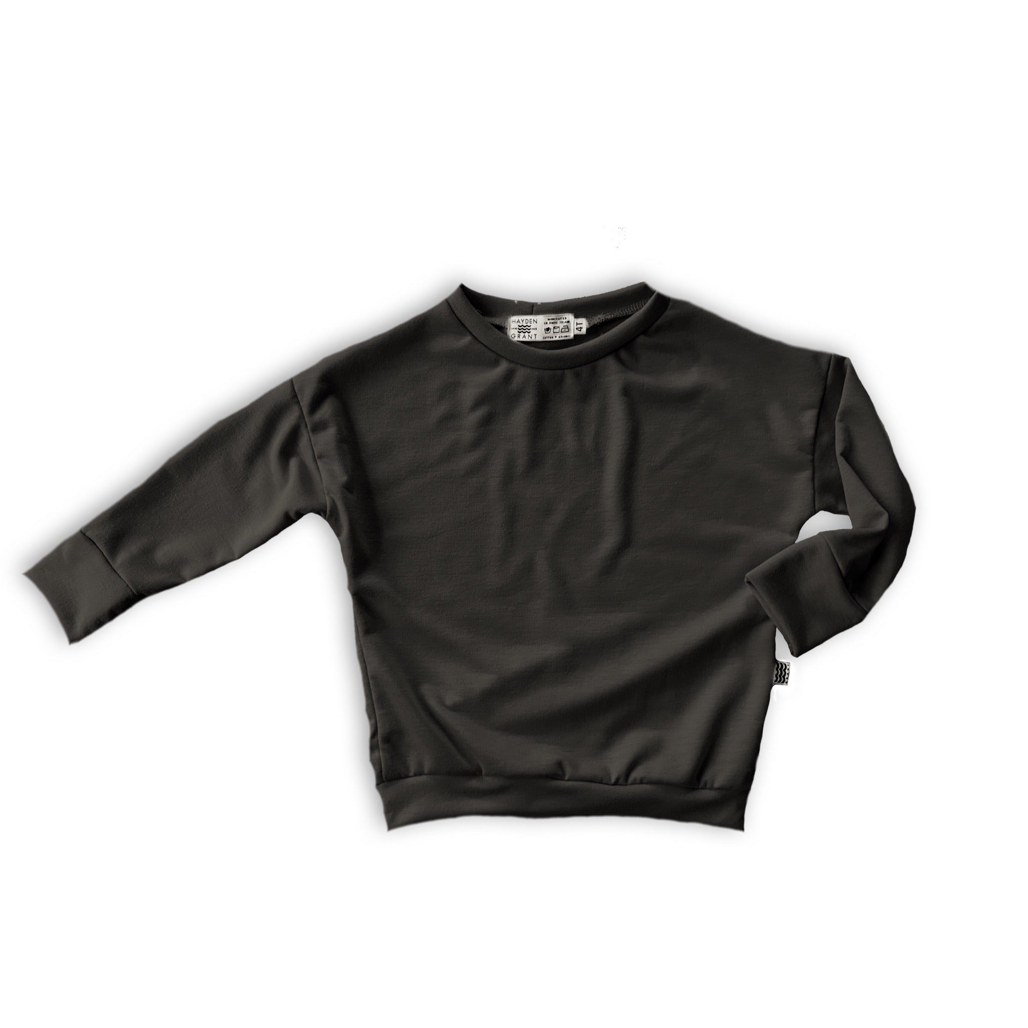 Long Sleeve Dolman Shirt in Onyx