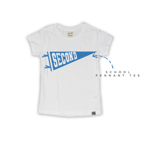 Back to School Grade Tee in Varsity Blue
