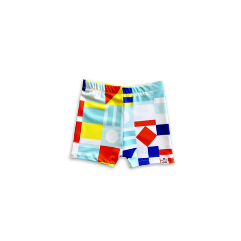 Saint Tropez (Nautical Flag) Euro Swim Shorts- Baby Toddler Kids