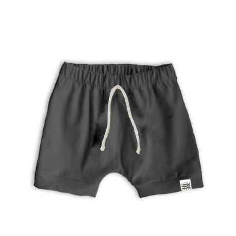 Boy's Crew Shorts in Solid Slate