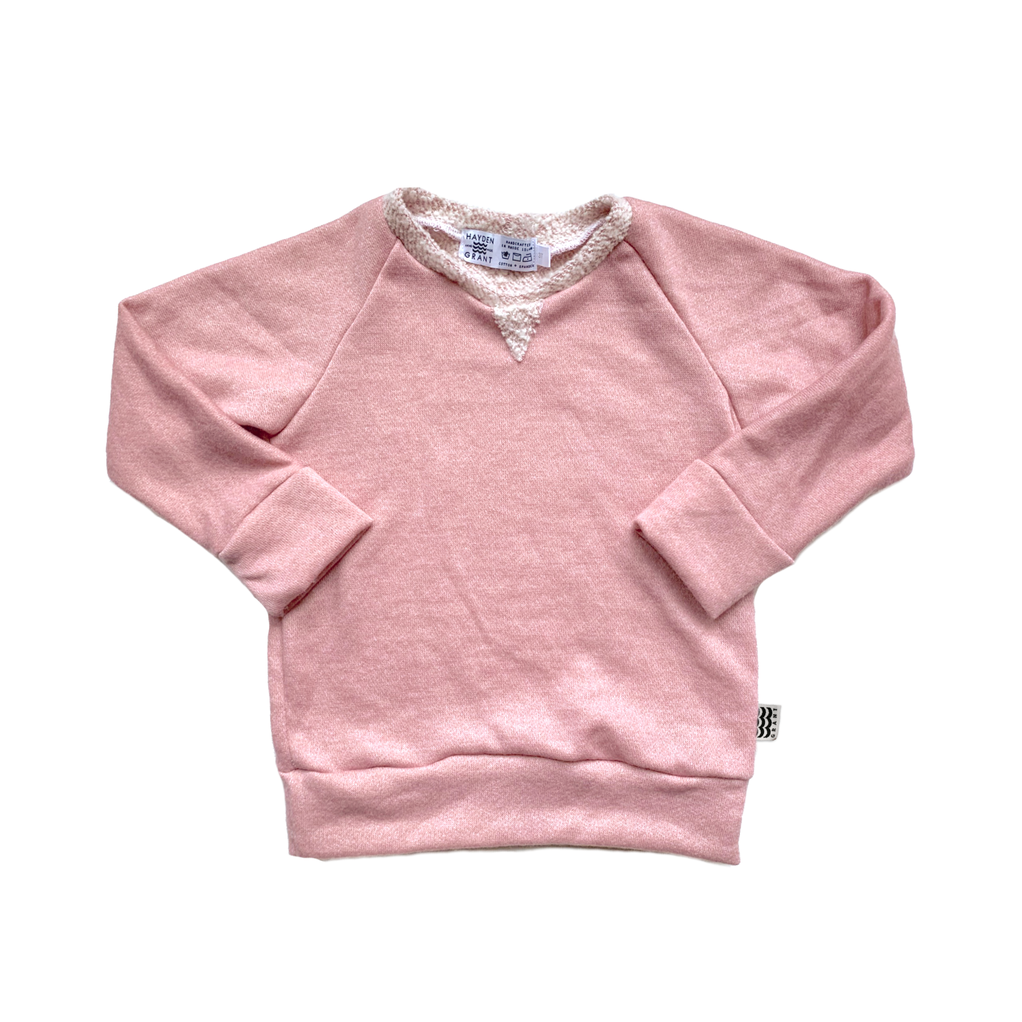 Crew Neck Sweatshirt in Rose Water
