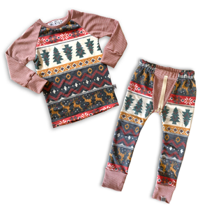 Heirloom Pajamas in Holiday Fair Isle
