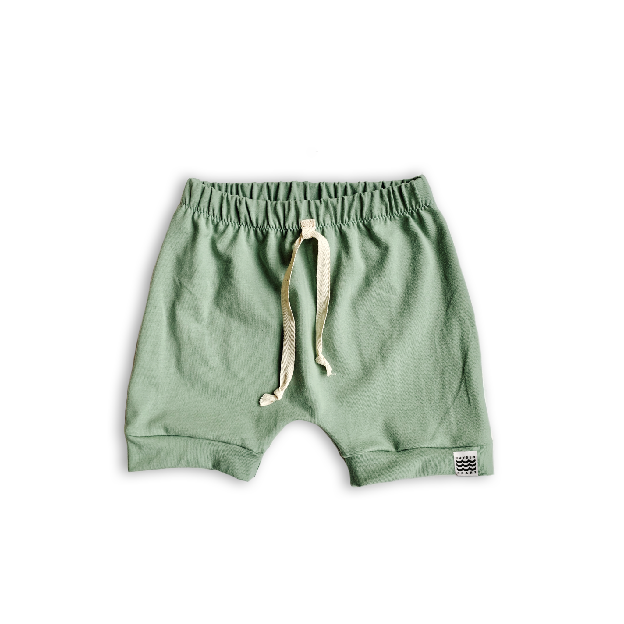 Boy's Crew Shorts in Green Tea