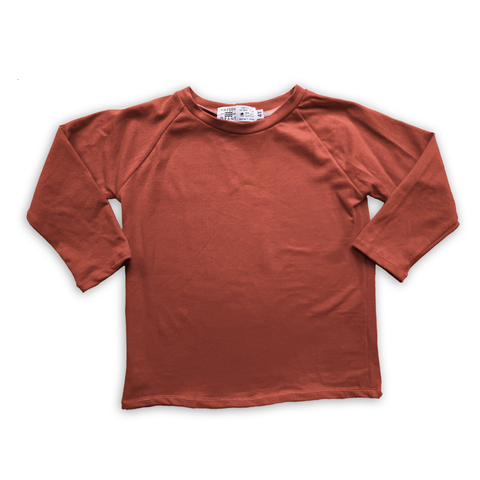 Handcrafted Raglan in Russet (choose of sleeve length)