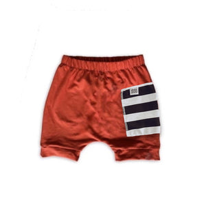 Sidecar Pocket Crew Shorts in Persimmon