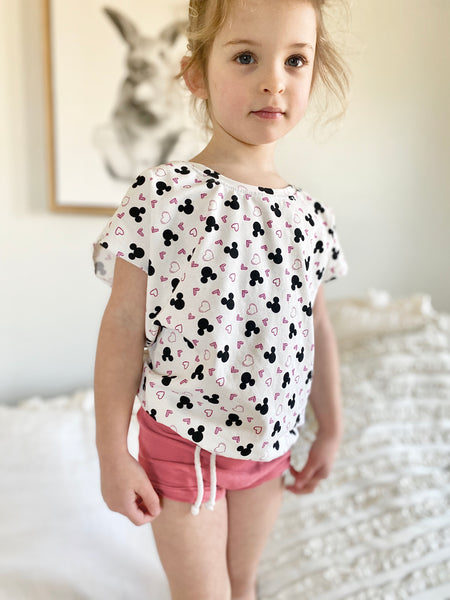 Limited Edition Short Sleeve Dolman in Love Minnie