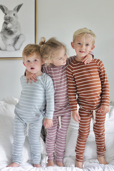 Heirloom Pajamas in Bold Russet Stripe