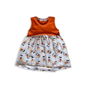 Limited Edition Twirl Dress in Mickey + Persimmon (choose of sleeve length)