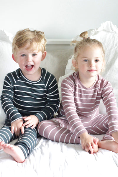 Heirloom Pajamas in Bold Narwhal Stripe